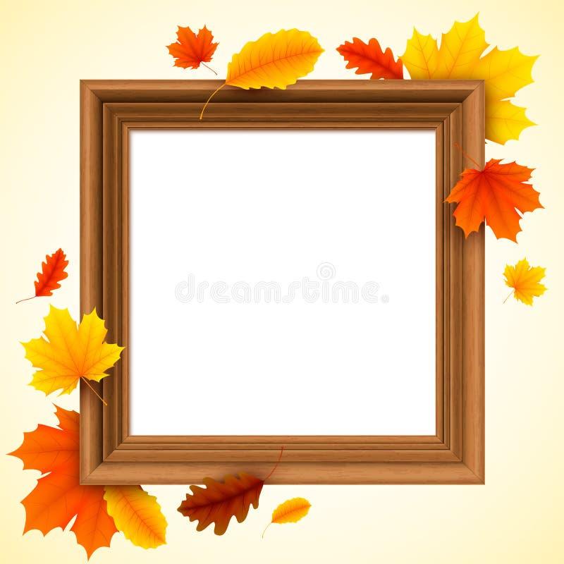 秋天画框 向量例证