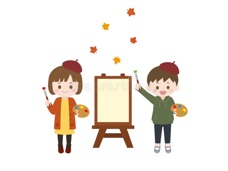 秋天arts1 向量例证