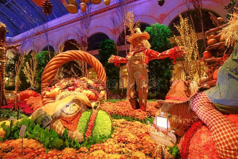秋季在贝拉焦旅馆音乐学院&植物园里 免版税库存照片