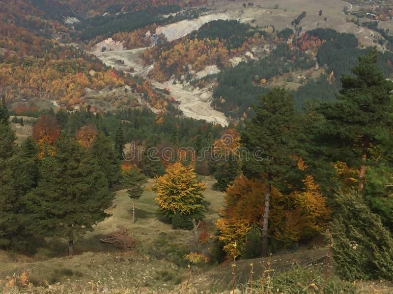 秋季天在一个狂放的地方 库存图片