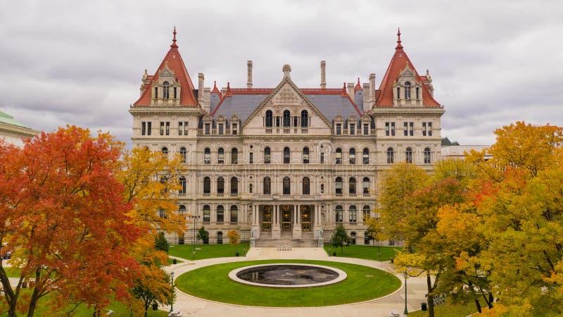 秋季纽约州议会议场国会大厦大厦在阿尔巴尼 库存图片