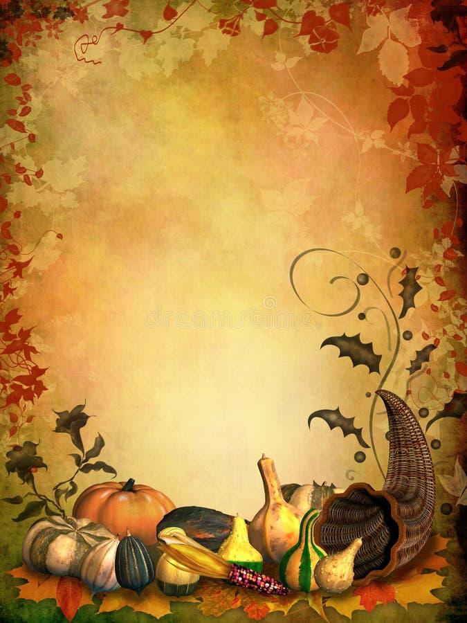 秋季背景聚宝盆 向量例证