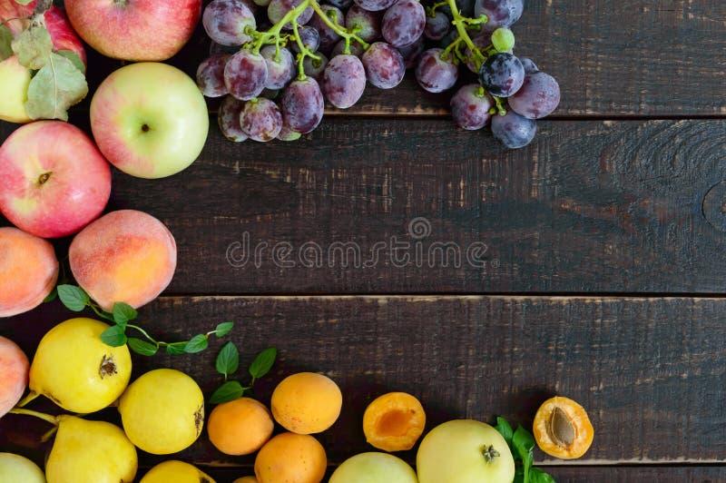 秋季食物背景 免版税库存图片