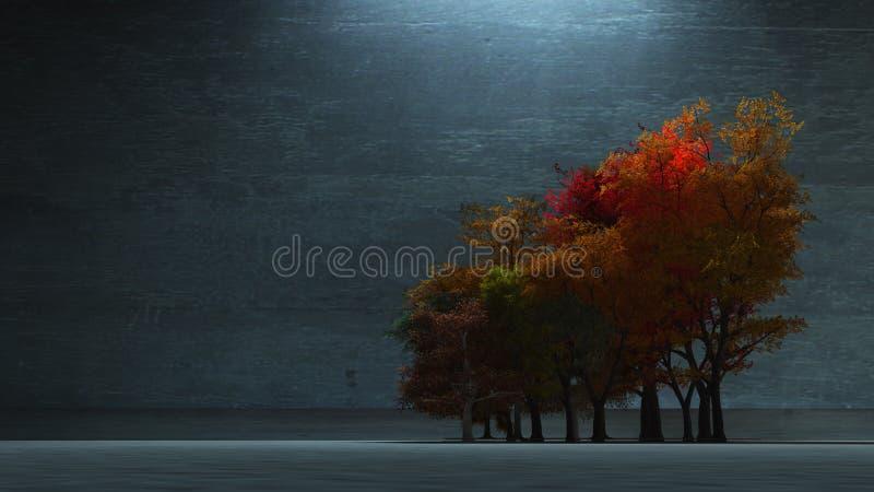 秋季结构树 向量例证