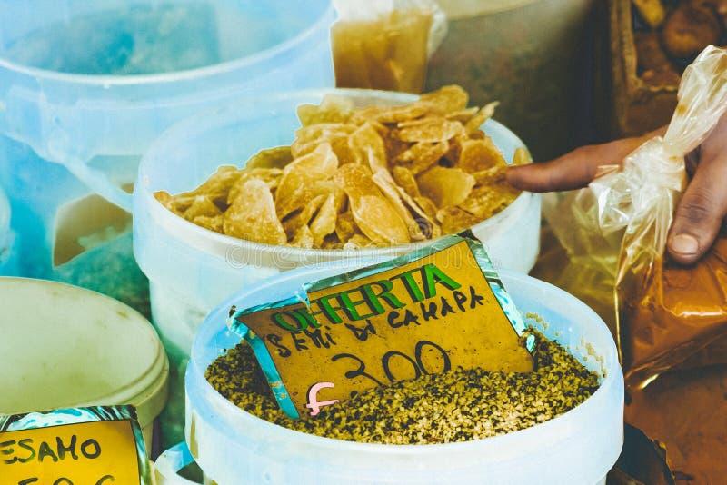 种子和香料销售  库存照片