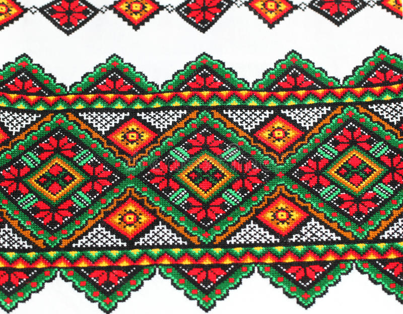 种族乌克兰刺绣 库存照片