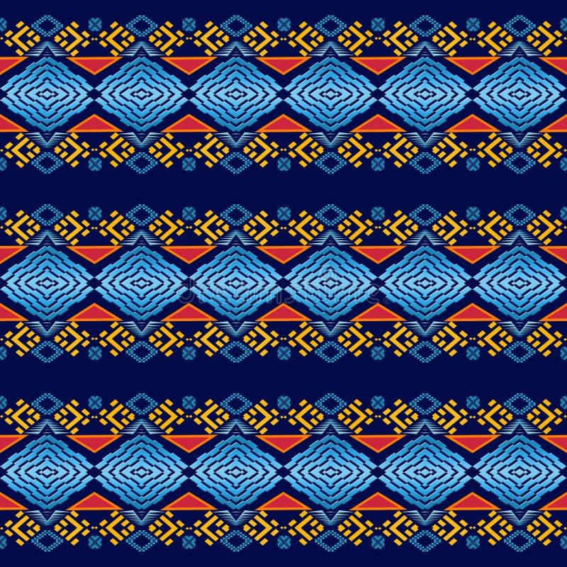 种族几何无缝的样式 库存例证
