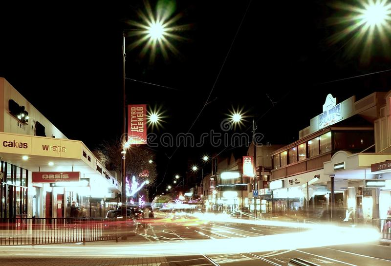 种族分界线晚上摄影 库存照片