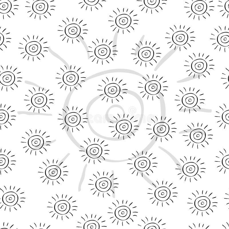 种族太阳的样式 免版税库存图片