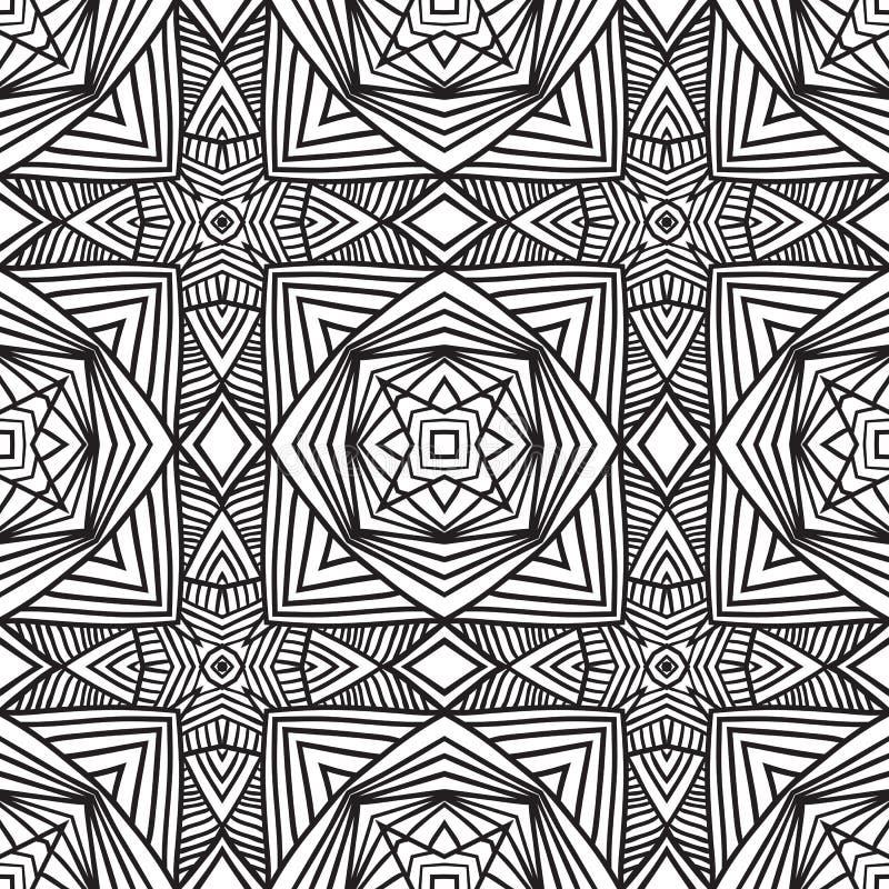 种族无缝的样式装饰品印刷品设计 库存例证
