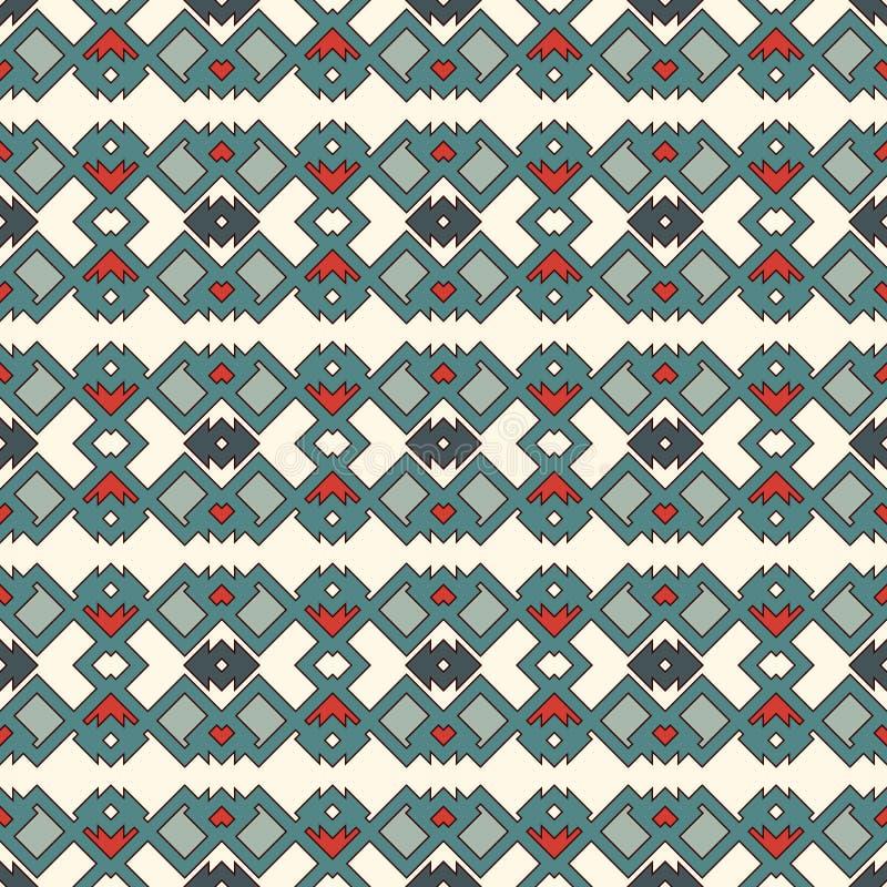 种族样式无缝的样式 美国本地人抽象背景 部族主题 Boho别致的数字式纸 库存例证