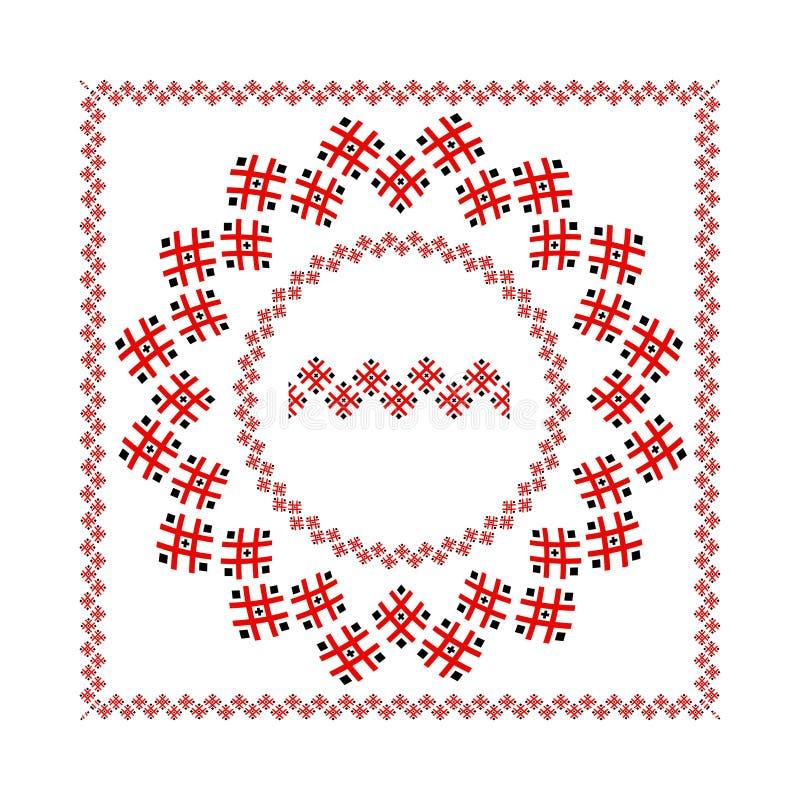 种族民间装饰品框架传染媒介的设计 皇族释放例证