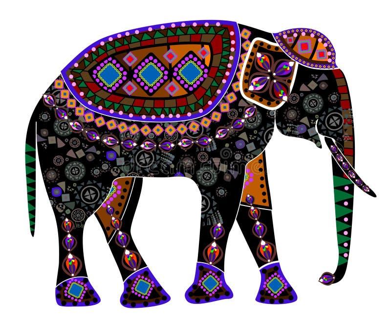 种族的大象 免版税库存照片