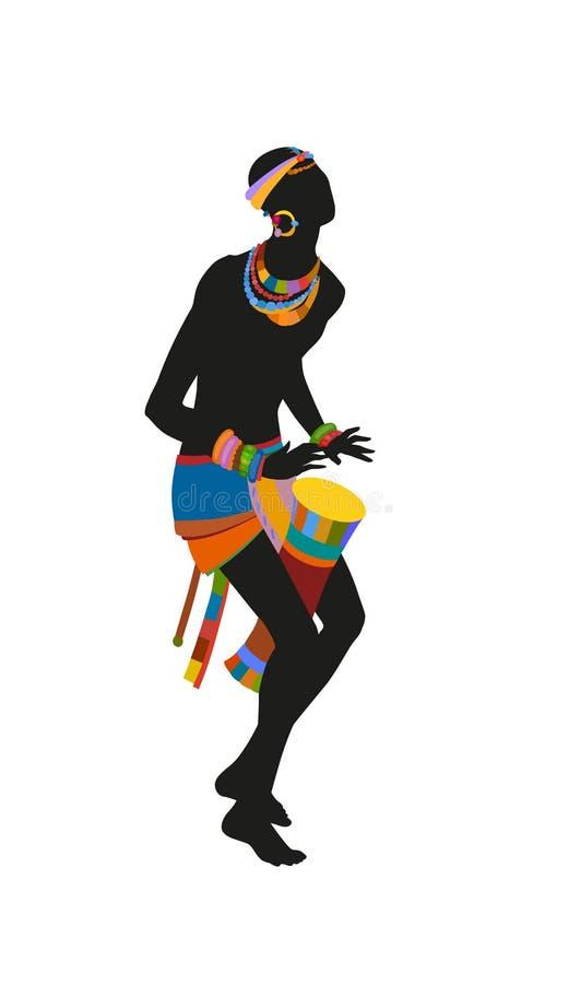 种族舞蹈非洲人人 免版税库存图片