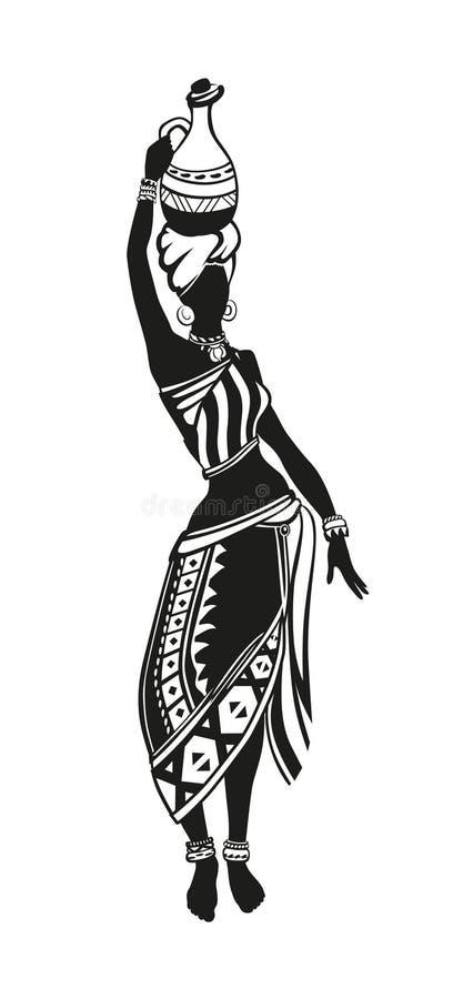 种族舞蹈非洲人妇女 免版税库存图片