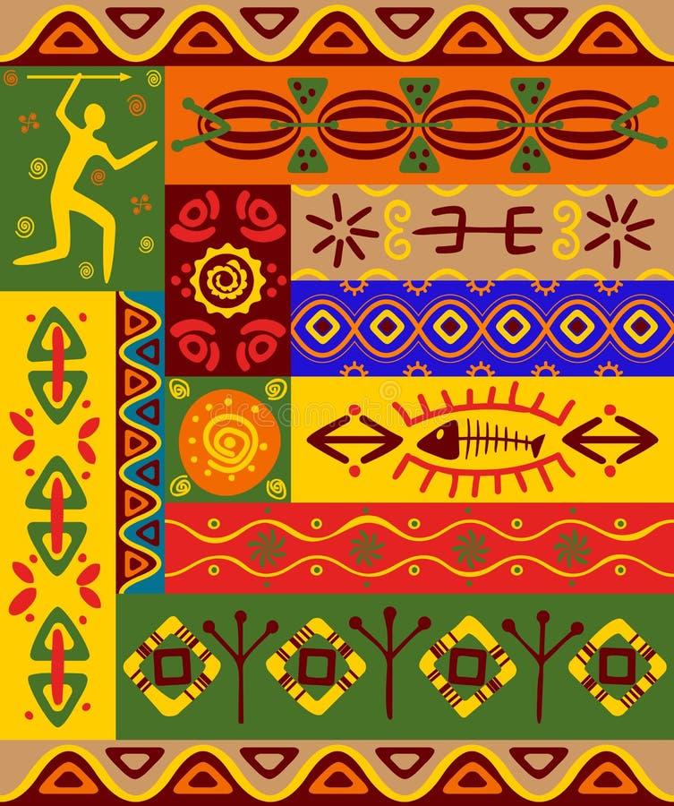 种族装饰品模式 向量例证