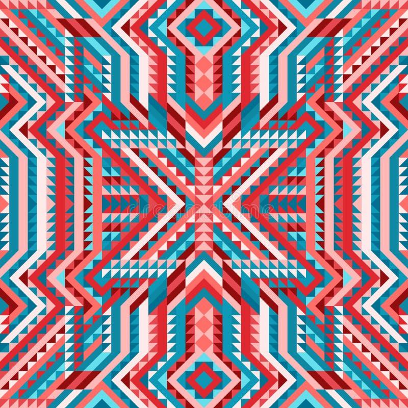 种族部族复杂无缝的样式阿兹台克人样式 向量例证