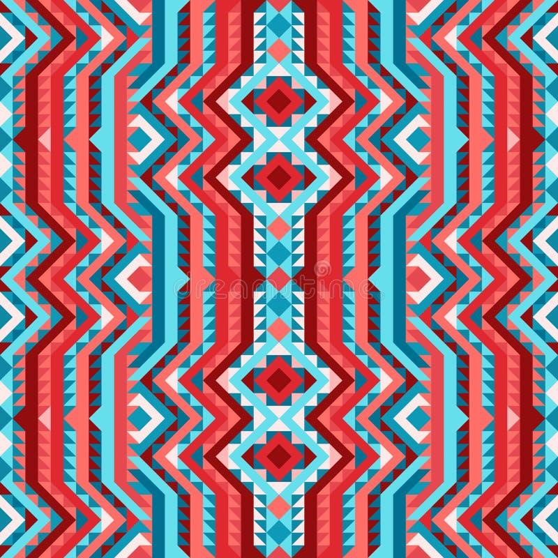 种族部族明亮的无缝的样式阿兹台克人样式 向量例证