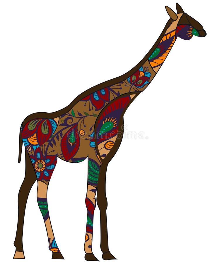 种族长颈鹿 免版税库存照片