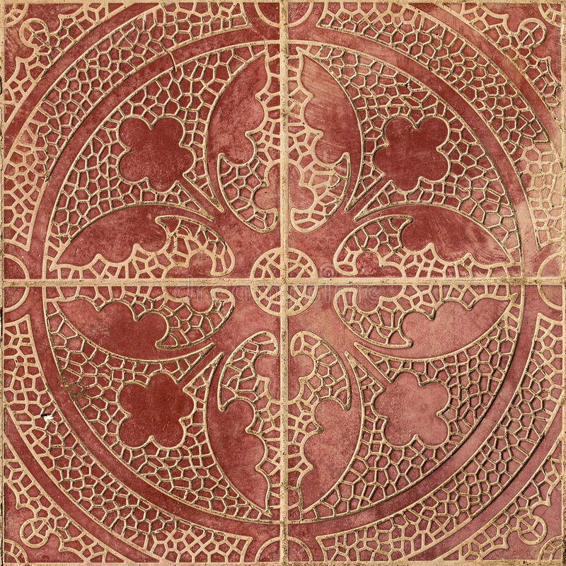种族阿拉伯装饰品样式瓦片设计 免版税库存照片