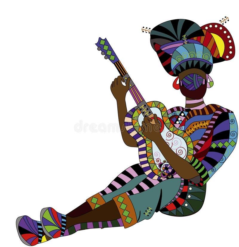 种族音乐家 库存例证