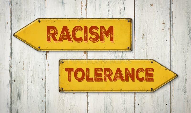 种族主义或容忍 免版税库存照片