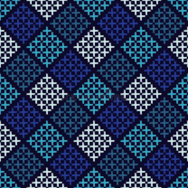 种族boho无缝的样式 刺绣 传统的装饰品 几何的背景 部族的模式 民间主题 皇族释放例证