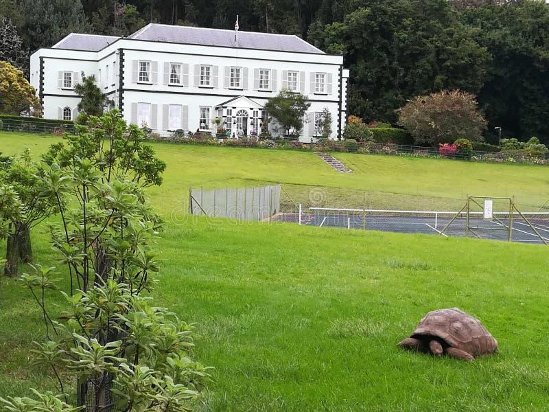种植园房子州长圣赫勒拿 免版税库存照片