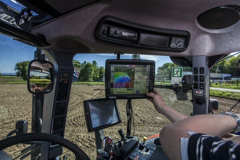 种植播种机弹簧的农业机械 免版税库存照片