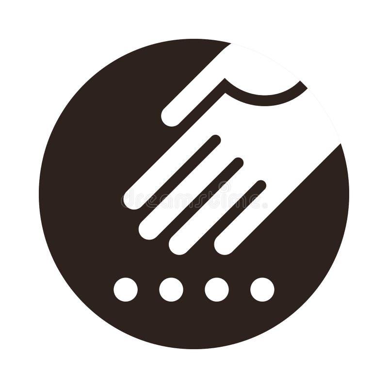 种植种子象的手 免版税库存照片