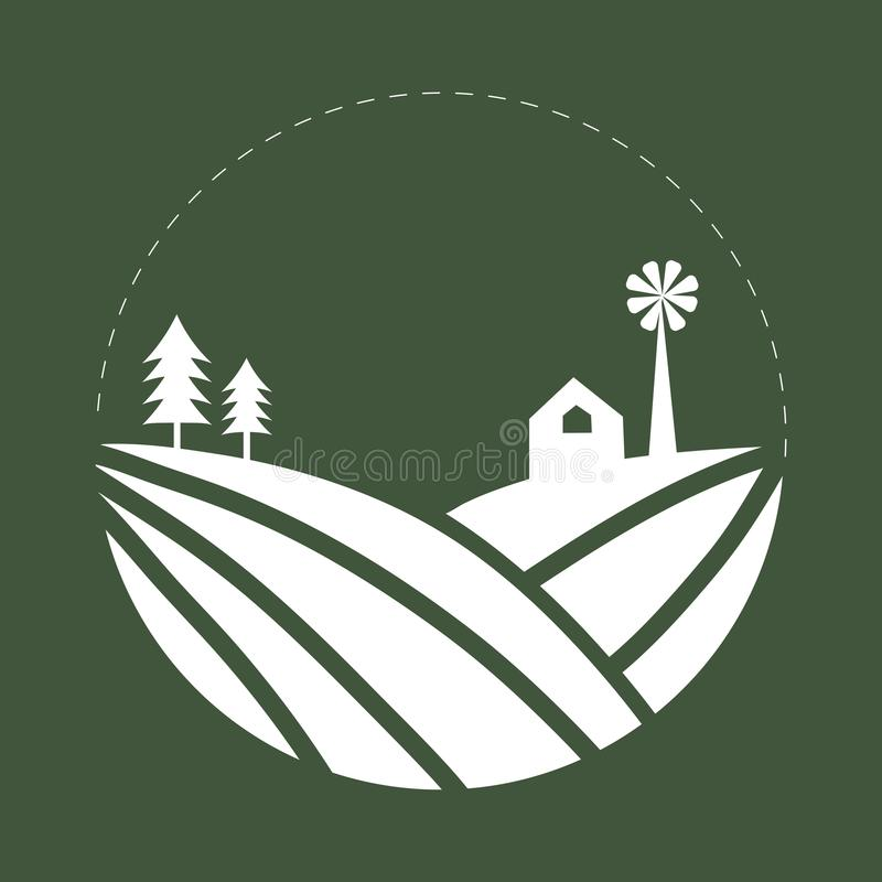 种田商标例证的土地的耕种 库存例证