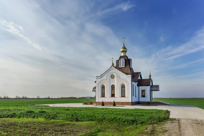 种田库班河州农业大学,斯拉夫的区域,克拉斯诺达尔疆土,俄罗斯-新的圣尼古拉斯教会 免版税库存图片