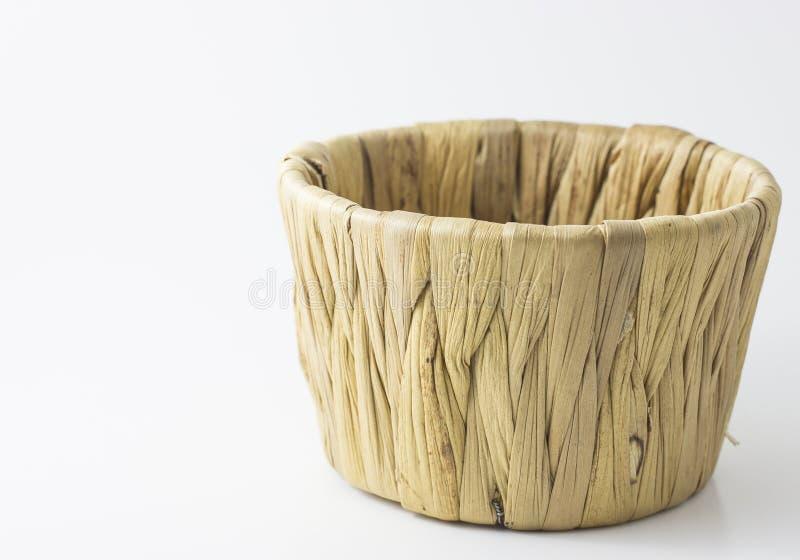 种类中国蜜钱在白色背景的一个篮子蒸了 库存图片