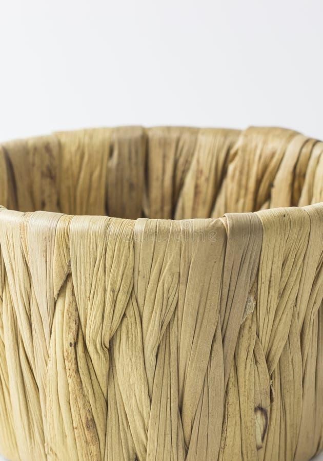 种类中国蜜钱在白色背景的一个篮子蒸了 免版税图库摄影