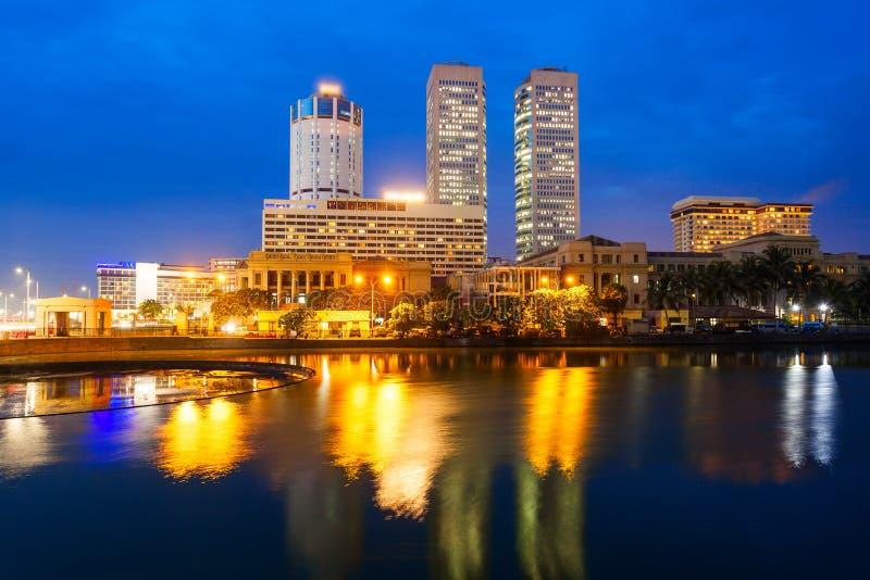 科伦坡市地平线视图 免版税图库摄影