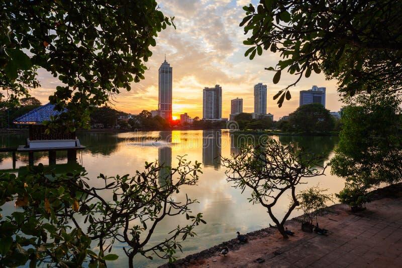 科伦坡市地平线视图 库存图片