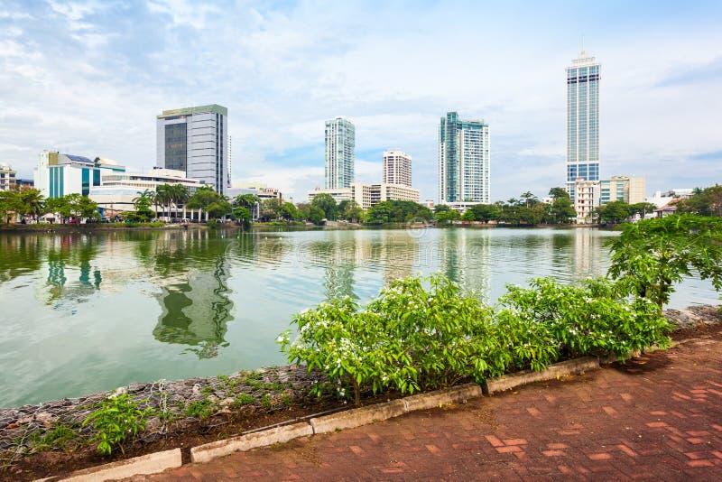 科伦坡市地平线视图 免版税库存照片