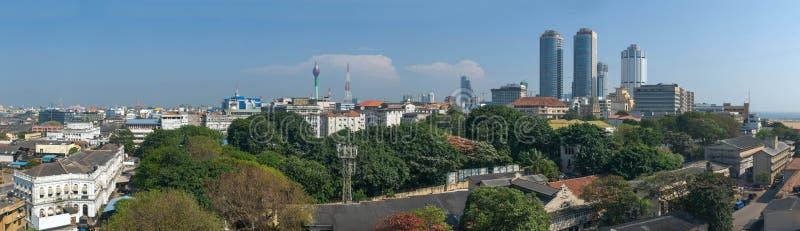 科伦坡市大大小全景 免版税库存照片