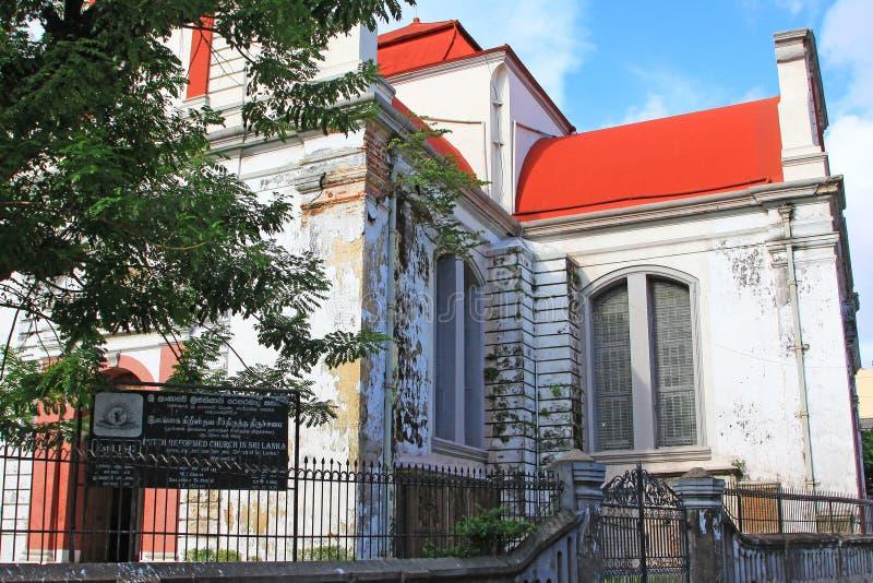科伦坡荷兰语被改革的教会,斯里兰卡 免版税库存照片