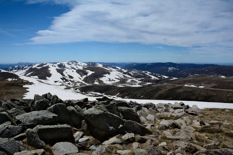 科修斯科山-高山在澳大利亚 库存图片