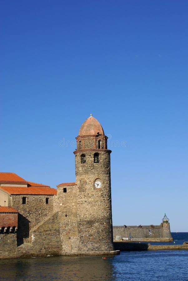 科利乌尔堡垒 免版税库存图片