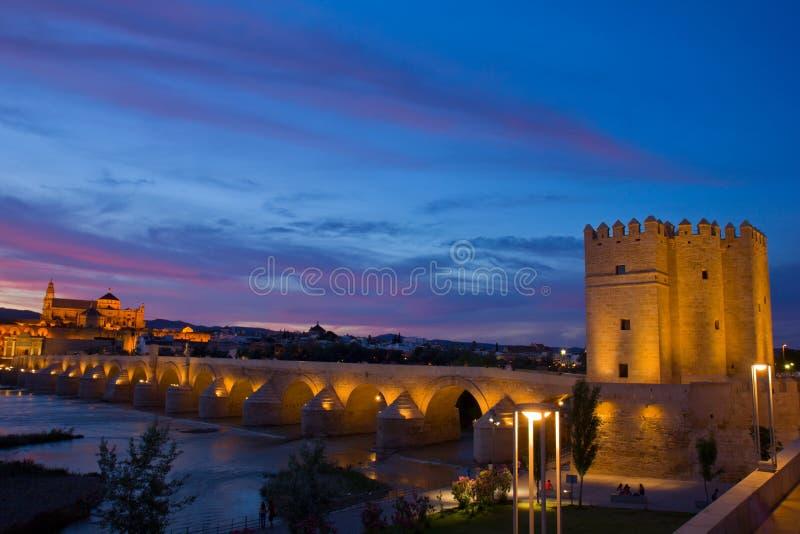 科多巴在晚上,西班牙 图库摄影