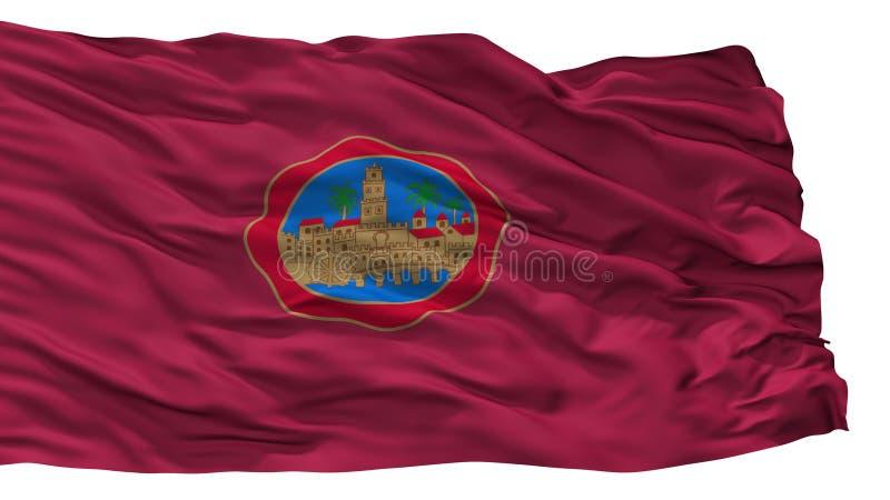 科多巴市旗子,西班牙,隔绝在白色背景 库存例证