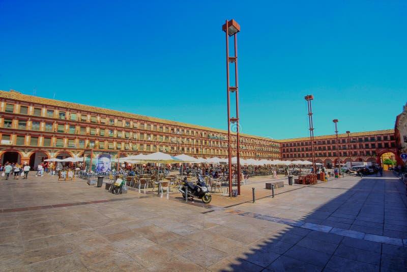 科多巴-广场de la Corredera广场 andalucia西班牙 免版税库存图片