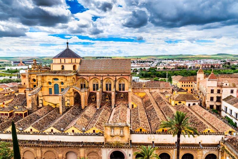 科多巴-大教堂梅斯基塔,安大路西亚,西班牙 库存照片