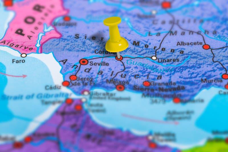 科多巴西班牙地图 免版税库存图片