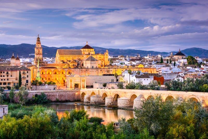 科多巴,西班牙老镇 库存图片