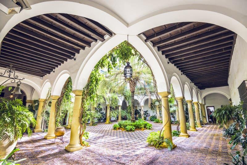科多巴,西班牙维亚纳宫殿  免版税图库摄影