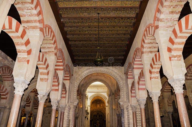 科多巴,西班牙- 5月3 :2014年5月3日的著名科多巴清真寺寸 免版税库存照片