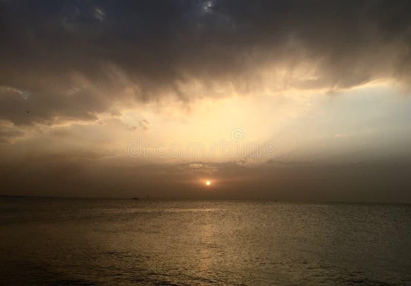 科威特日落 免版税图库摄影